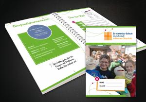 Broschüre Schulplaner Layout, Design, Druck